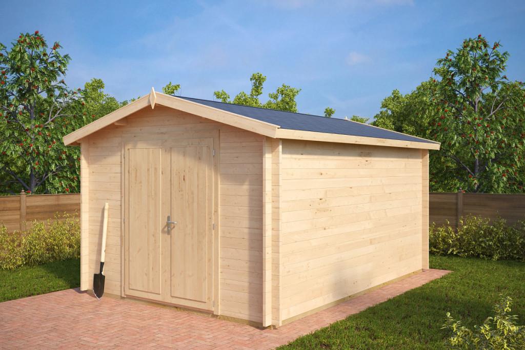 62e912d14ff38 Záhradný domček na náradie Eva A 12m2 / 4 x 3 m / 40mm - Zahradny ...