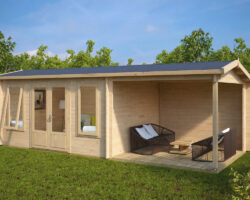 Záhradný domček s terasou Eva D